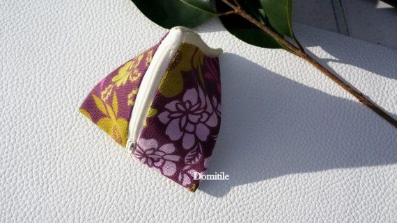 Petite trousse en tissu rose et anis