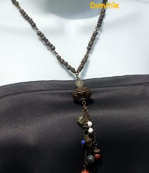 Collier long artisanal hippie chic