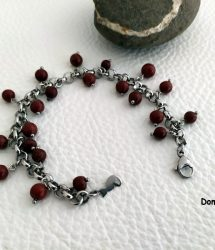 Bracelet artisanal jaspe rouge