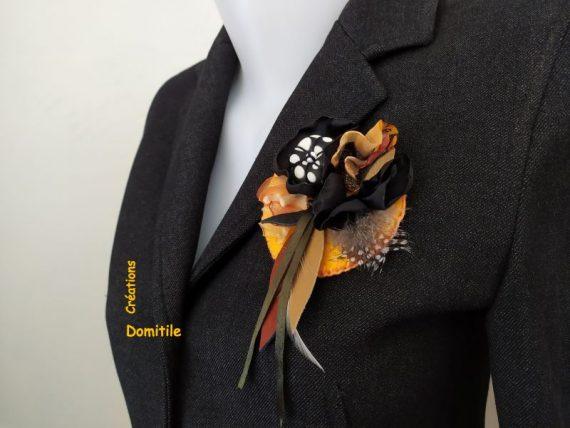 Broche art textile artisanale