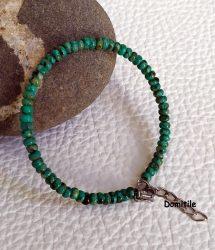 bracelet artisanal pierre naturelle turquoise. créations domitile