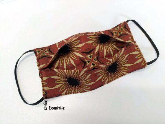 Masque lavable coton style ethnique