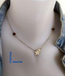 Collier artisanal français avec étoile